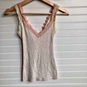 Eloise by Anthropologie pink & yellow tank top